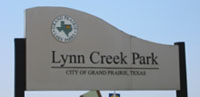 the entrance sign for Lynn Creek Park