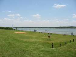 the swimming beach at Loyd Park