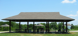 a group picnic site in Loyd Park