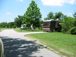 RV campers in campsites at Loyd park campground